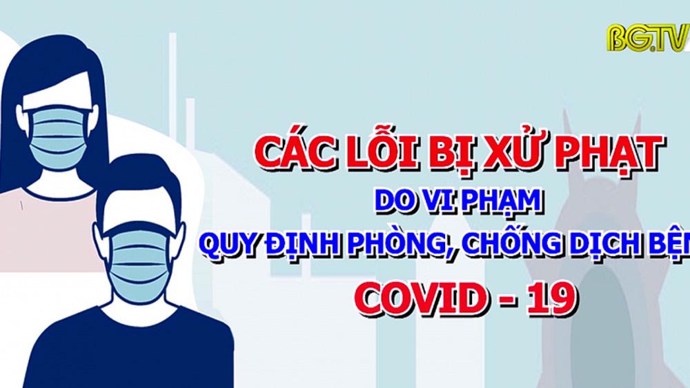 Các lỗi bị xử phạt do vi phạm quy định phòng, chống dịch Covid-19